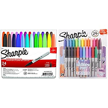 Sharpie Fine Point Permanent Markers, 80s Glam and Electro Pop Colors, 48 Markers In Total