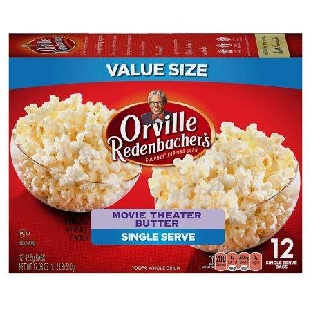 Orville Redenbachers Gourmet Popcorn Movie Theater Butter 12 Count. Mini Single by Orville Redenbacher's