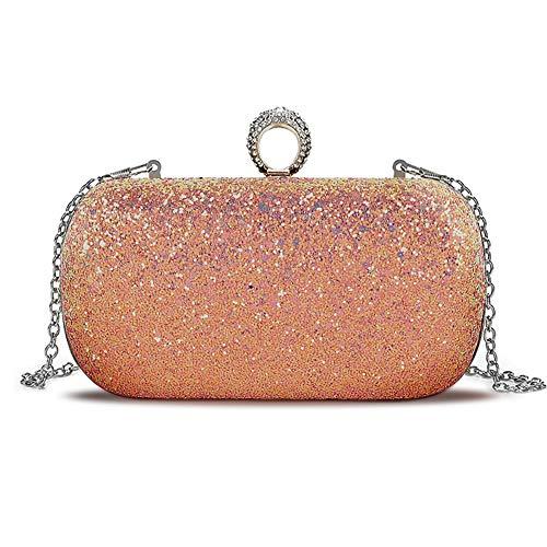 Multi Handbag Color Pink (Beautier Multi-color Sparkling Purse Elegant Evening Party Handbags for women (Pink))
