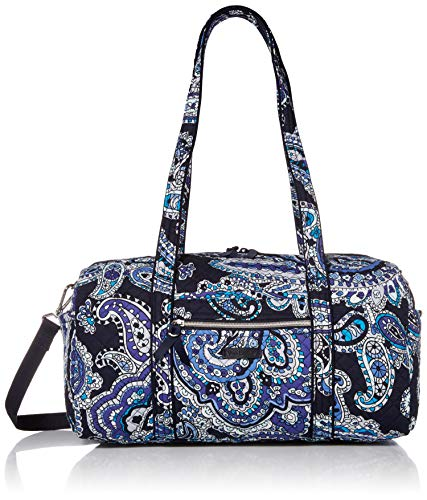 Vera Bradley Signature Cotton Travel Duffel Bag, Deep Night Paisley