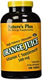 Nature's Plus - Orange Juice C 500mg, Vitamin C Supplement, Chewable Tabs (4-Pack of 180)