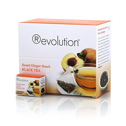 Revolution Tea Sweet Ginger Peach Black Tea, 30 Count