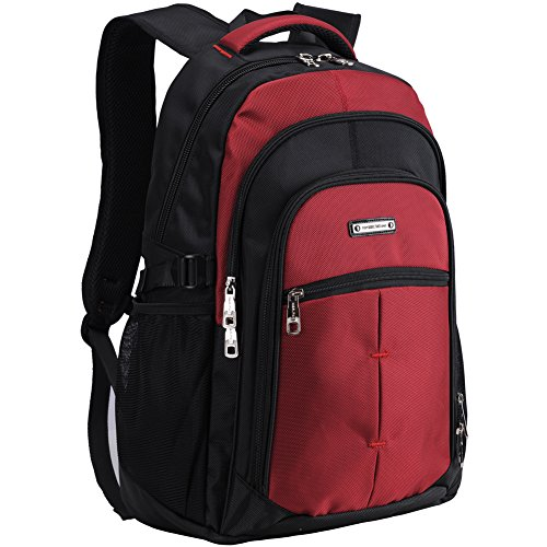 College Laptop Backpack School Bag for Men or Women Fit 15.6 Inch Computer-Red