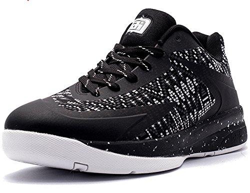 1879STAR 79STAR Chaussures Homme Sport Chaussures d'extérieChaussures de Basket-ballur Chaussures d'entraînement H1115 Noir Blanc dLJDC7