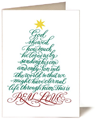 christmas cards set of 10 1 john 49 10 real - Love Christmas Cards