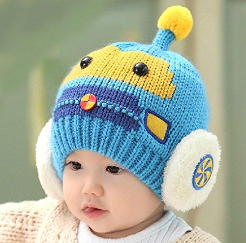 3d Main Gear (Dealzip Inc® Cute Baby Sky Blue 3D Car Shaped Winter Hat Cap)