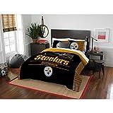 """NFL Pittsburgh Steelers """"Draft"""" Full/Queen Bedding Comforter Set #55112679"""