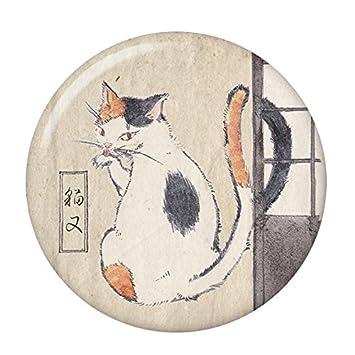 Amazon | 妖怪缶バッジ 【猫又・...