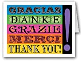 Thank You in Different Languages Note Card - 18 Boxed Cards & Envelopes