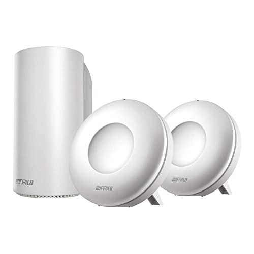 【Amazon限定】BUFFALO WiFi 無線LAN AirStation connect 親機+専用中継機2台セットモデル WRM-D2133HP/E2S 11ac ac2200 1733+400Mbps デュアルバンド 独自メッシュ機能搭載
