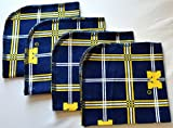 1 Ply Printed Flannel Washable, Michigan Wolverines-Set Napkins 12x12 inches 5 Pack - Paper-less towels (R) Flannel