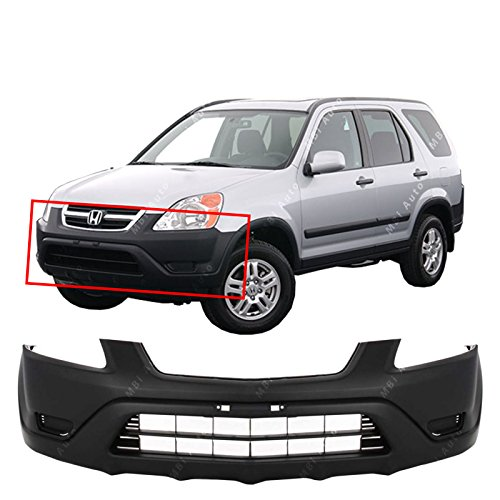 MBI AUTO - Textured, Black Front Bumper Cover Fascia for 2002 2003 2004 Honda CRV CR-V 02 03 04, HO1000202 ()