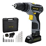 Werktough D011 18V Cordless Drill Driver 2 Viable Speed Powerful Screwdriver Li-ion Battery