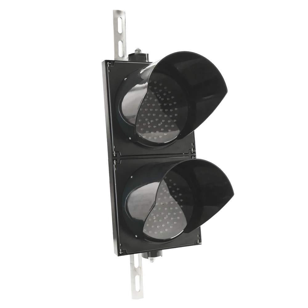 und Au/ßenbereich IP65 schwarz 2 x 200mm 220V mit gr/ün und rot LED leuchtet Ampel f/ür Innen PrimeMatik