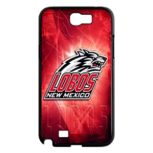 Snap On JX-09 NCAA New Mexico Lobos With Hard Shell Case for Samsung Galaxy Note 2 N7100-Black