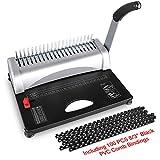 MAKEASY Binding Machine, 21-Hole, 450 Sheet, Paper Punch Binder with Starter Kit 100