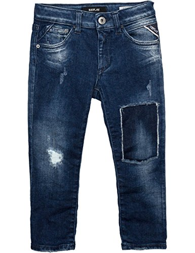 Replay Girls Blue Boyfriend Jeans in Size 12 Years Blue by Replay