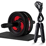 Ab Roller Wheel, Abdominal Exercise Wheel for Core Strength Training | with Knee Pad-BEST Core&Abs workout for home&outdoor