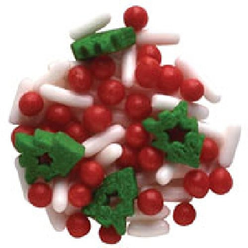 Oasis Supply Christmas Festive Sprinkle Quins, 8-Ounce