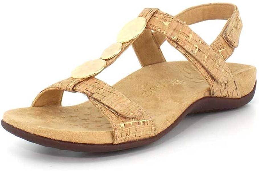 9ea3024352ae Vionic Women s Rest Farra Backstrap Sandal Gold Cork 10M  Amazon.co ...