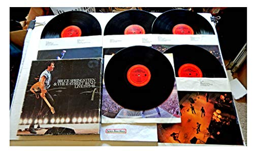 Bruce Springsteen & The E Street Band LIVE 1975-85 - Columbia Records 1986 - USED Vinyl Box Set Of FIVE LP Records - 1986 Pressing C5X 40558 - 40 Historic Live Song Performances