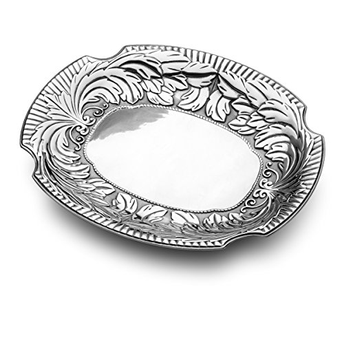 Wilton Armetale Acanthus Large Oval Serving Tray, 19.25-Inch-by-15.25-Inch