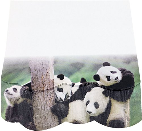 Panda Notepad - 4A 3D Shape Printed Sticky Notes,Cute Designs,Printed with Panda,Self-Stick Notes,3.75 x 4.13 Inches,100 Sheets/Pad,1 Pad/Pack,4A 8086