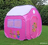 GreEco Children Pop Up Tent, Play House, 4 X 3.45 X 3.45 Feet Pink Large