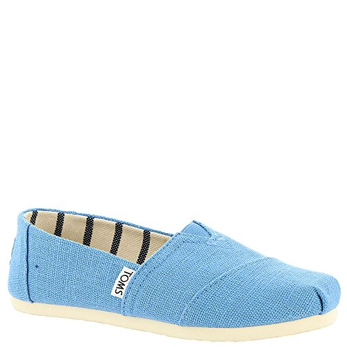 (TOMS Kids Unisex Venice Collection Alpargata (Little Kid/Big Kid) Clear Sky Heritage Canvas 5.5 M US Big Kid)