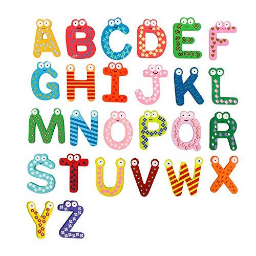 Nynoi Refrigerator Fridge Magnets 26pcs Cartoon Alphabet ABC~XYZ Magnets Child Educational - T Zion Glasses