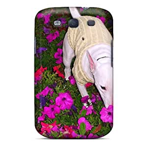 Galaxy S3 Case Cover - Slim Fit Tpu Protector Shock Absorbent Case (english Bull Terrier)
