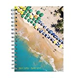 "TF Publishing 19-9097A July 2018 - June 2019 Tropical Beaches Medium Weekly Monthly Planner, 6.5 x 8"", Multi Colored"
