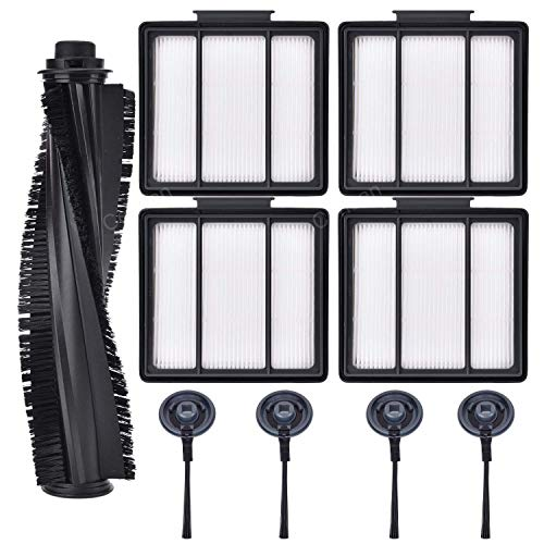 - Replace Filters for Shark Vacuum (1 Main Brush Roll & 4 Filters & 4 Side Brush)