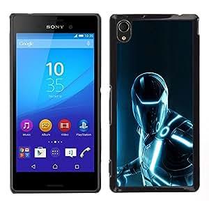 YiPhone /// Prima de resorte delgada de la cubierta del caso de Shell Armor - Futurista Hierro Superhéroe - Sony Xperia M4 Aqua