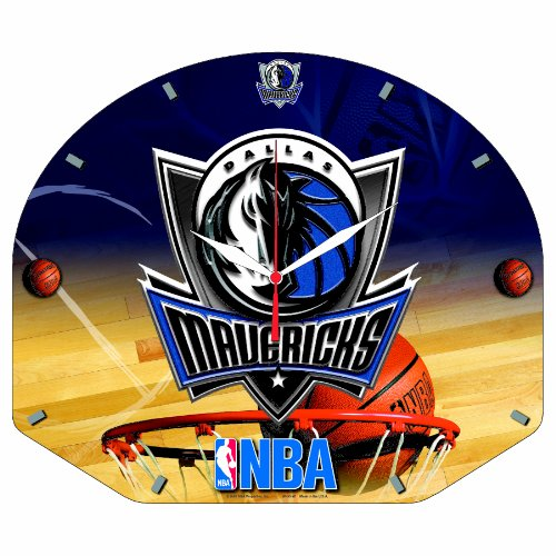 NBA Dallas Mavericks High Definition Clock - Backboard Shaped