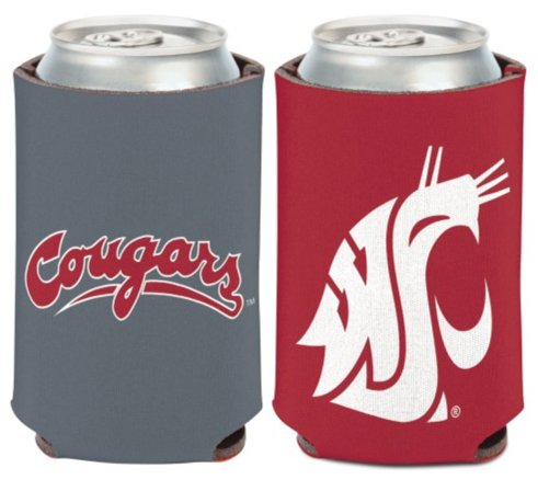 (WinCraft NCAA Washington State University Cougars 1 Pack 12 oz. 2-Sided Can Cooler)