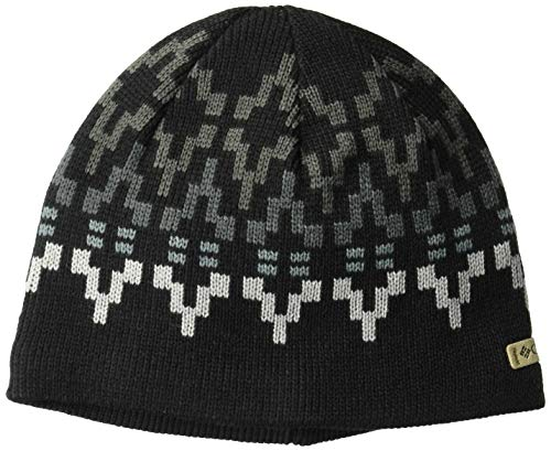 Columbia Standard Alpine Action Beanie, Black Broken Fair Isle, One Size