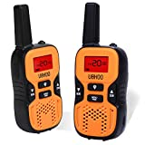 UOKOO Kids Walkie Talkies, 22 Channel FRS/GMRS 2 Way Radio 2 miles (up to 3.7 Miles) UHF Handheld Walkie Talkies for Kids (1 Pair) Orange