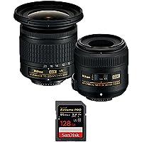 Nikon 13534 Landscape and Macro Two Lens Kit with AF-P DX 10-20mm VR & AF-S DX 40mm Lens + Sandisk Extreme PRO SDXC 128GB UHS-1 Memory Card