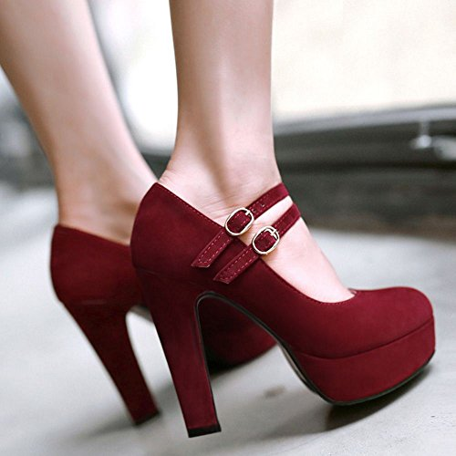 Big Fashion Heeled Size Heel Spring Red TAOFFEN Shoes High Pumps Stiletto Platform Women Shoes Sexy Lady Plus zZqR6Z