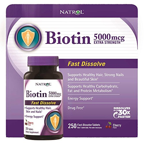 Natrol Biotin 5000mcg Strength Tablets
