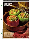 McCall's Cooking School Recipe Card: Vegetables 17 - Ratatouille-Stuffed Peppers (Replacement McCall's Recipage or Recipe Card For 3-Ring Binders)