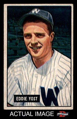 1951 Bowman # 41 Eddie Yost Washington Senators (Baseball...