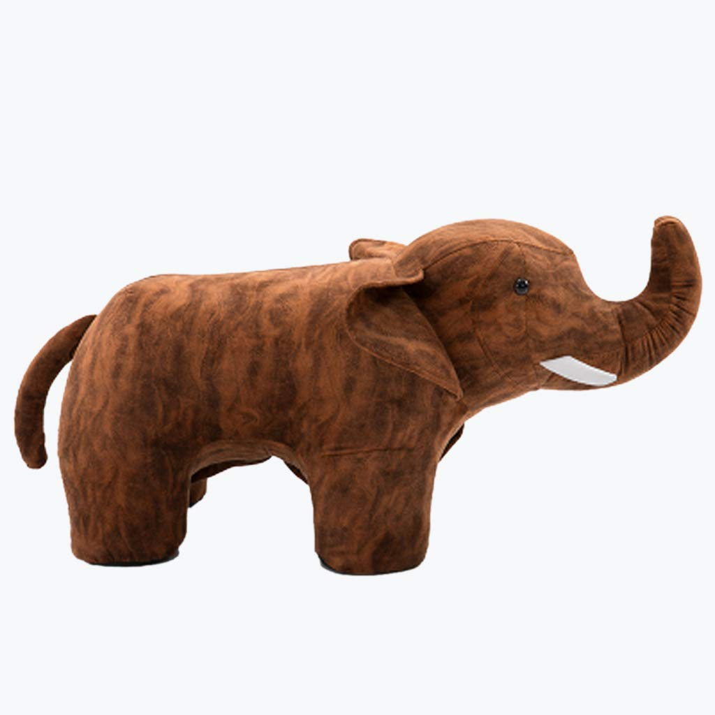 Small Wooden Bench Creative Small Animal Stool Cartoon Elephant