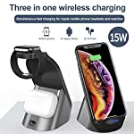Wireless Charger 3 in 1 Wireless Charging Station Fast Charger Stand Charging Dock for Apple Watch Series 6 5 4 3 2…