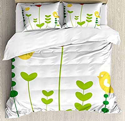 Hedda Clare Luxury Quilt coverLittle Birds Heart Duvet Cover Set1 Duvet Cover + 2 Pillow Shams