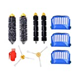 XCSOURCE Bristle Brush + Beater Brush + Vac HEPA Filter + 3-Arm Brush Replacement for irobot Roomba 600 Series 610 620 630 650 660 690 Vacuum Cleaner HS1033