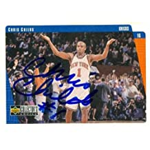 Autograph Warehouse 344774 Chris Childs Autographed Basketball Card - New York Knicks44; SC 1997 Upper Deck Collectors Choice No. 94