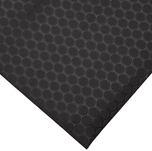 Rubber-Cal 03-165-2MM-BK-06 Coin-Grip Flooring and Rolling Mat, Black, 2mm x 4 x 6-Feet