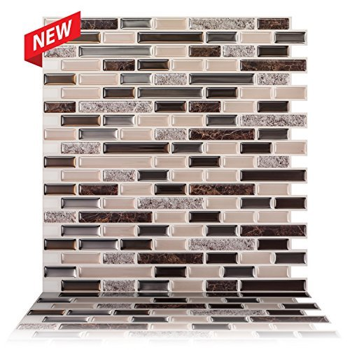 Tic Tac Tiles  12quot x 12quot Premium Anti Mold Peel and Stick Wall Tile in Como Crema 10 Tiles